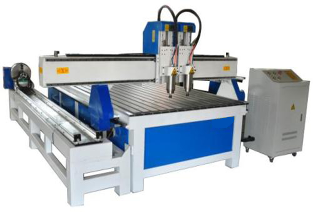 2 heads woodworking cnc router machine